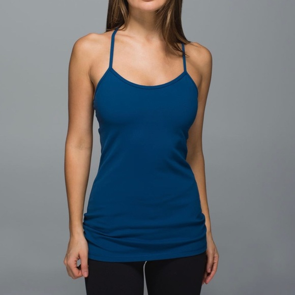 Dark Teal Lululemon Power Y Tank